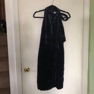 Janie and Jack Navy Crushed Velvet Dress